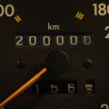 20万キロに到達したW124のオドメーター、路肩に寄せ記念撮影です。 ミッションも20万キロノーメンテナンスで迎えることができるかな、 と思いつつ何...
